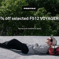 [Actually] Selected F512 VOYAGERS from our Freitag inventory are going for 25% discount now.