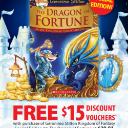 [POPULAR Bookstore] Get $15 worth of discount vouchers when you purchase the special edition of 'Geronimo Stilton: The Dragon of Fortune' at