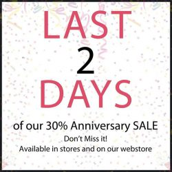 [MOLEY APPARELS] Today is the last 2nd day of our 30% anniversary SALE!