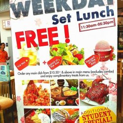 [Lenas ] Jurong point Lenas 03-42 weekday set lunch promotion (11.