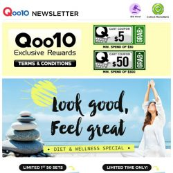 [Qoo10] CRAZY PRICE! ONLY $9.90 - Chia Seeds & Dettol Body Wash + Fossil Watch $79.90!!!