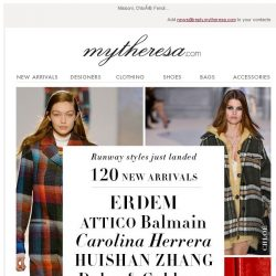 [mytheresa] Just landed: 120 new arrivals with runway styles