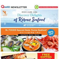 [Qoo10] Indulge in Delectable Korean Seafood Delights from our Korea Seafood Fair! Select from a Wide Range of Special Deals happening now till 18th Oct 2017! Shop Now!