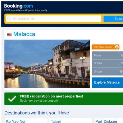 [Booking.com] Deals in Malacca from S$ 3