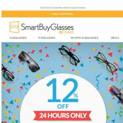 [SmartBuyGlasses] We've never done this deal before! 12% Off ALL Sunglasses & Eyeglasses 🎆