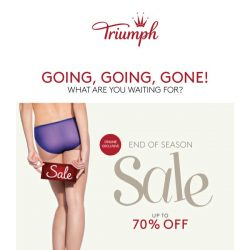 [Triumph] 🔥END OF SEASON SALE - Going, Going, GONE!