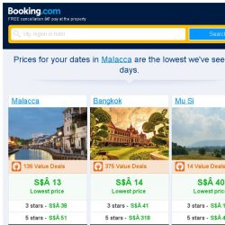 [Booking.com] Prices in Malacca are the lowest we've seen in 5 days!
