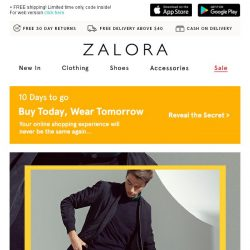 [Zalora] Cheers to the weekend: EXTRA 18% off sitewide + up to 60% off!