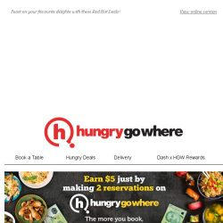 [HungryGoWhere] 1-for-1 Burgers, Two Course Set Dinner @ $30++, & more for this Red Hot Deals!
