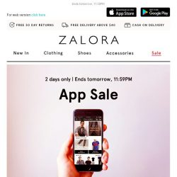 [Zalora] On your phone? Take extra 15% OFF today.