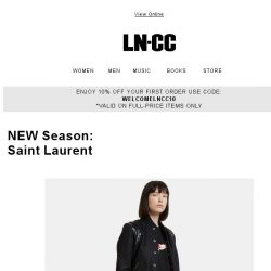 [LN-CC] AW17 New Season: Saint Laurent directional styles + luxe leathers
