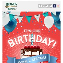 [Brand's] ✨WEEK 2 BIRTHDAY BASH!✨Get $40 OFF and a FREE gift worth $70!