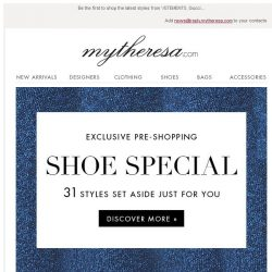 [mytheresa] Exclusive pre-shopping: Shoe special