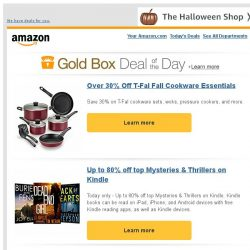 [Amazon] Over 30% Off T-Fal Fall Cookware Essentials