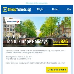 [cheaptickets.sg] Year end deals to Europe are here! Grab the seats before they're gone!