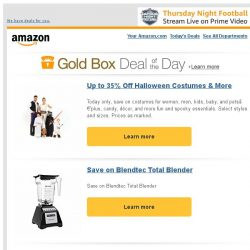 [Amazon] Up to 35% Off Halloween Costumes & More