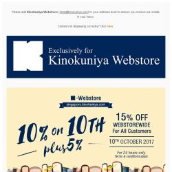 [Books Kinokuniya]  🎉 24 hours only promotion! Enjoy 10-plus-5% Off WEBstorewide and Free Delivery on 10th October for your early Christmas shopping! 🚚🎄