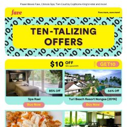 [Fave] Hey There, try these ten-talizing offers!
