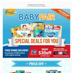 [Giant] 🔔 Get ready!  EXPO 👶 BABY FAIR 🏁 start this Friday!