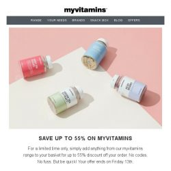 [MyVitamins] Happy Hump Day | With Savings Up To 55% On Your Order