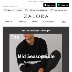 [Zalora] The Mid Season Sale is here! Extra 18% off your first order!