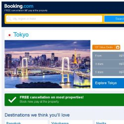 [Booking.com] Deals in Tokyo from S$ 122
