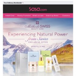 [SaSa ] 【MethodeSwiss】Experiencing Natural Power from Swiss