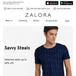 [Zalora] ⛔ , drop, and shop these styles!