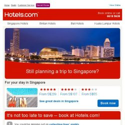 [Hotels.com] Still planning a trip to Singapore?