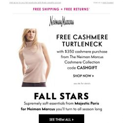 [Neiman Marcus] The velour turtleneck & more must-haves