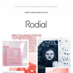 [RODIAL] Inside: Your 7 Day Masking Routine
