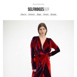 [Selfridges & Co] Velvet dresses with va-va-voom