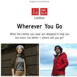 [UNIQLO Singapore] Where will you go with LifeWear?