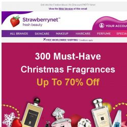 [StrawberryNet] 300 Must-Have Christmas Fragrances @ Ultra-Low Prices!