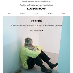 [LUISAVIAROMA] OUR LEGACY: FW17 Collection & Interview