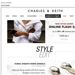 [Charles & Keith] NEW STYLES ADDED | Online Flash Sale