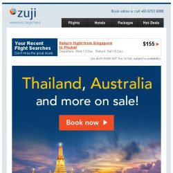 [Zuji] Last Day: All Thailand cities and more on sale!