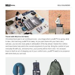[Muji] MUJI to GO – For a Week's Travel