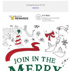 [Starbucks] Join in the merry with Starbucks