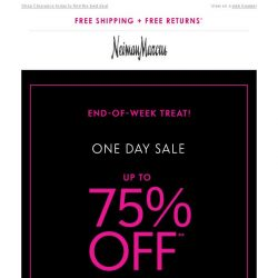 [Neiman Marcus] TGIF! Up to 75% off