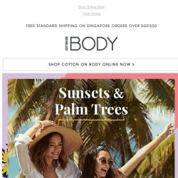 [Cotton On] Sunsets & Palm Trees   Swimwear From $34.95