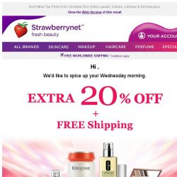 [StrawberryNet] , 1 Day Left for Extra 20% Off + Free Shipping!