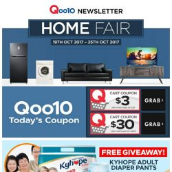 [Qoo10]  [HOME FAIR 19/10-25/10] $1 GLADE Solid Air Refreshener 170g & $39.90 NIPPON Odourless Paint 5L(LOWEST PRICE GUARANTEED!)