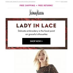 [Neiman Marcus] Lovely lace details