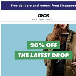 [ASOS] 20% off the latest drop