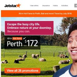 [Jetstar] ✈ Year-end flight deals to Perth, Bali and more! Book now.