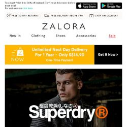 [Zalora] The very best: Superdry buy 4 for 35% Off!