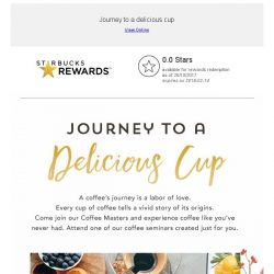[Starbucks] An invitation to experience coffee like you've never had