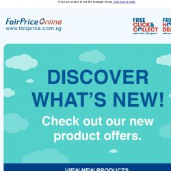 [Fairprice] Discover our new product offers!
