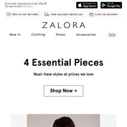 [Zalora] Pieces you want at prices you adore